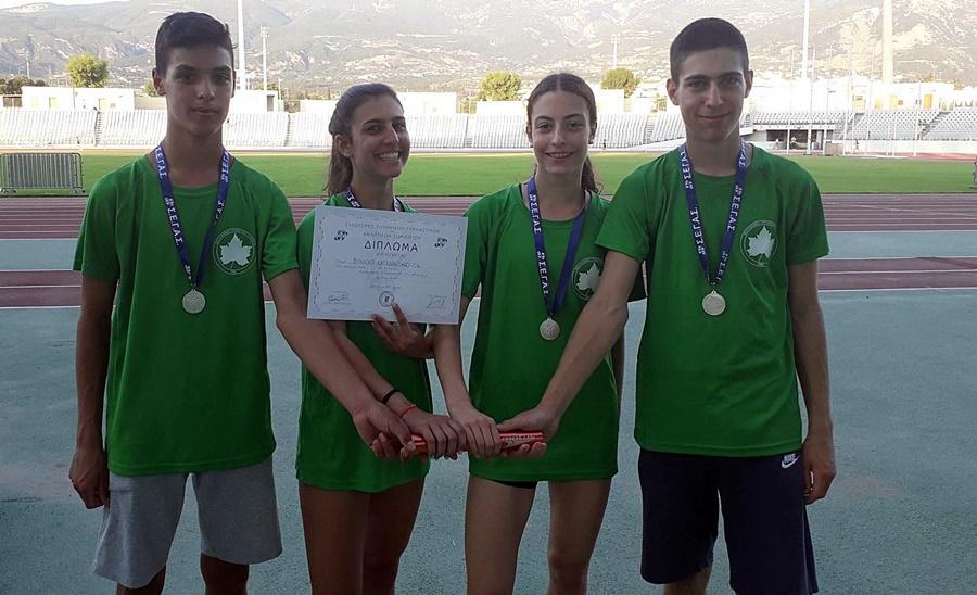 , Μεσσηνιακός: Τρία μετάλλια από Κουλιέρη, Κλείδωνα και σκυτάλη στο Πανελλήνιο Κ16 της Πάτρας