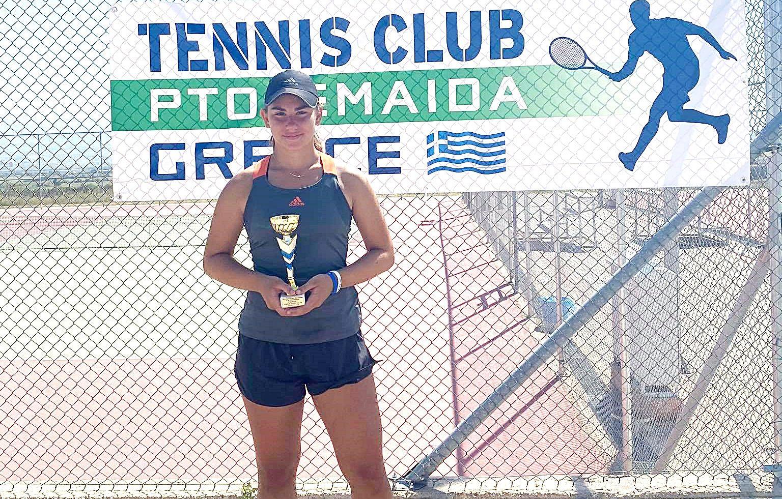 , Τένις: Λάμψη Παπακωνσταντίνου με διπλή επιτυχία στο Πανελλήνιο της Πτολεμαΐδας