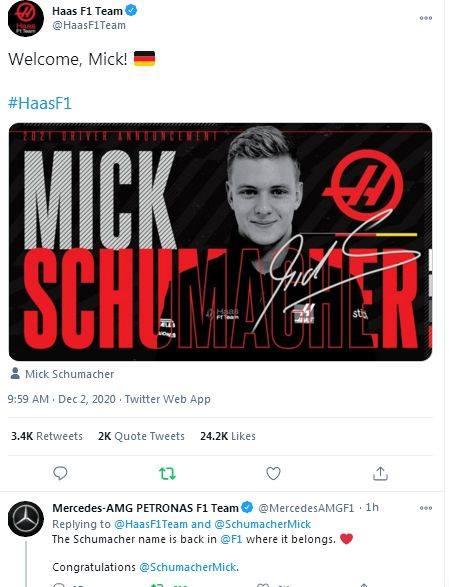 , Ο Μικ Σουμάχερ, γιος του Μίκαελ, θα αγωνιστεί για τη Haas F1 το 2021