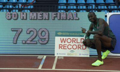 , Παγκόσμιο ρεκόρ ο Χόλογουέϊ στα 60 μέτρα εμπόδια (βίντεο)