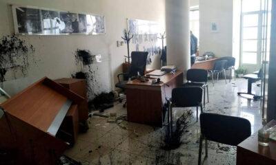 , Έσπασαν το γραφείο του Αυγενάκη στο Ηράκλειο για τον Κουφοντίνα (φωτο)