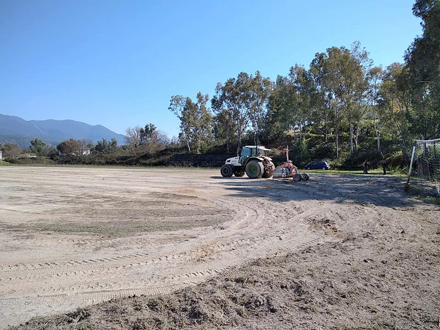 , Ατρόμητος Πλατύ: Ξεκίνησαν οι εργασίες στο γήπεδο (φωτο)