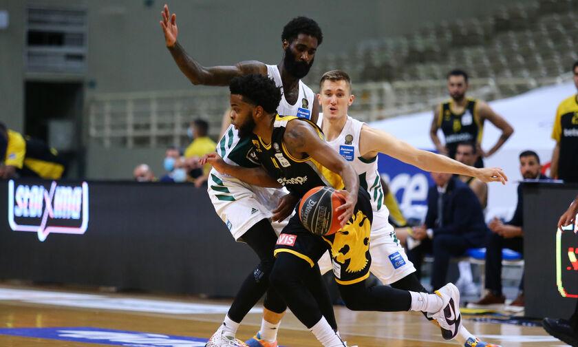 , Basket League: Δύσκολα ο Παναθηναϊκός 78-72 την ΑΕΚ