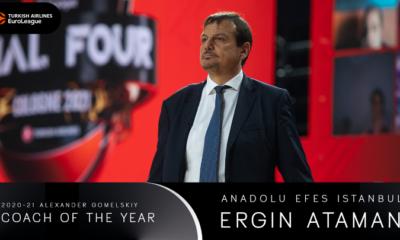 , ΕuroLeague 2021: Κορυφαίος προπονητής ο Τούρκος Εργκίν Αταμάν, που οδήγησε στην κορυφή την Αναντολού Εφές