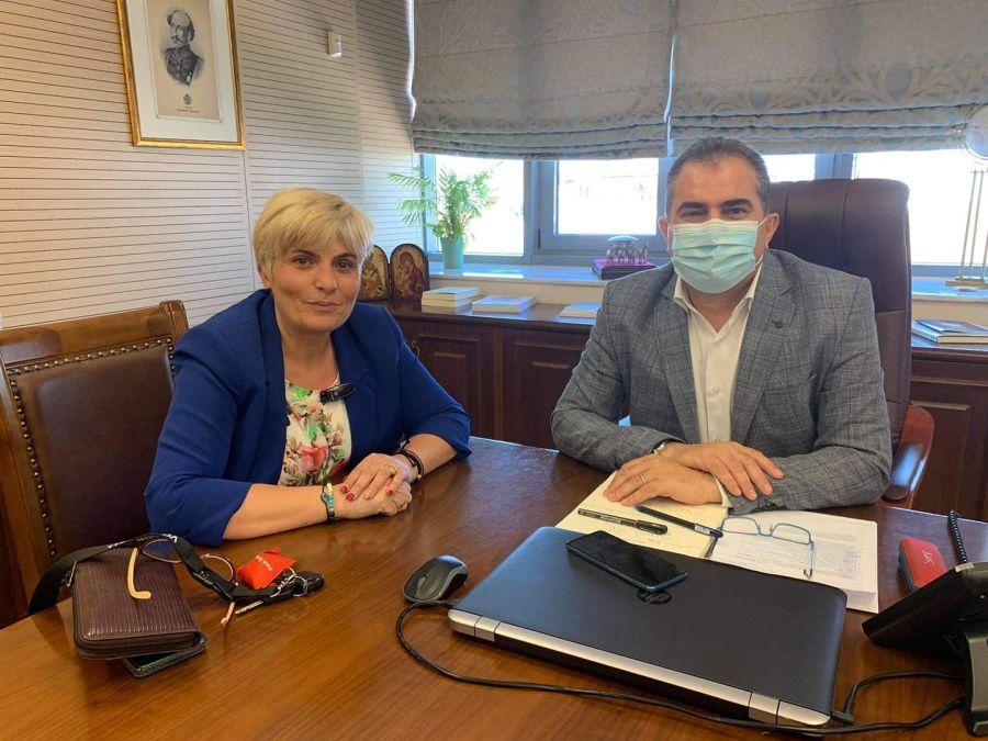 , Βασιλόπουλος-Καραμπάτσου: Συζήτηση με επίκεντρο το βόλεϊ και την ομαλή επιστροφή στα γήπεδα
