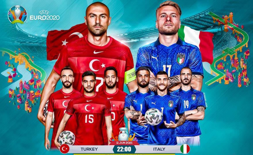 , Euro 2020- Αρχίζει το ματς: Πρεμιέρα απόψε (11/6, 22:00) με Τουρκία-Ιταλία