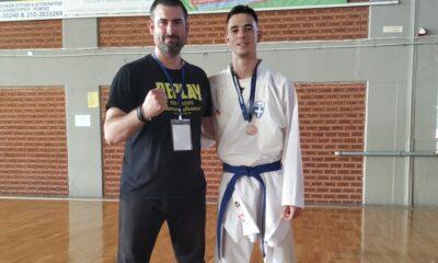 , Παμμεσσηνιακός: Χάλκινο μετάλλιο ο Χασανάκος στο Πανελλήνιο πρωτάθλημα καράτε