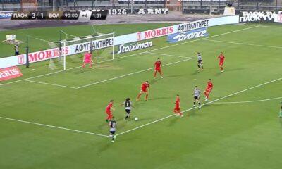 , ΠΑΟΚ-Βόλος 3-1: Οι φάσεις και τα γκολ (video)