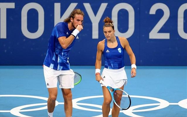 , Ολυμπιακοί Αγώνες 2020-Τένις: Πρώτη νίκη στο μικτό διπλό για Τσιτσιπά/Σάκκαρη