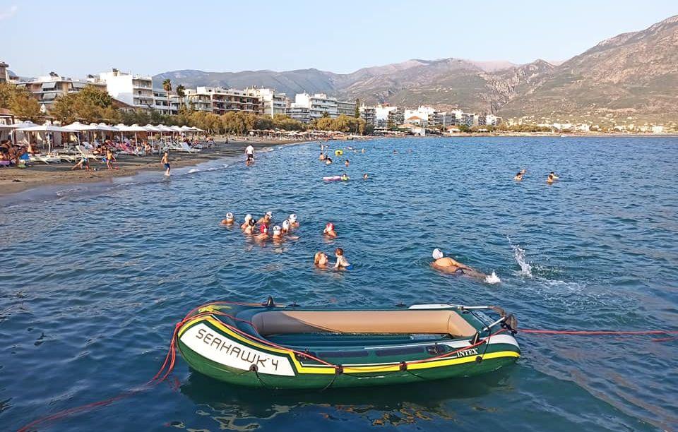 """, Άργης Καλαμάτας: """"Πρώτη"""" στην θάλασσα για τους μικρούς πολίστες (φωτο)"""
